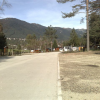 Zona di manovra dei camper nel campeggio comunale