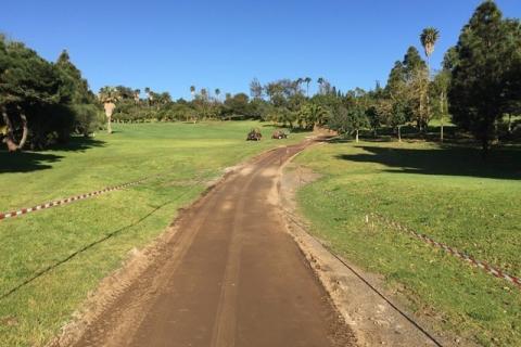 Piste carrabili nel campo da golf Bandama